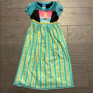 Disney Frozen Ana satin and tulle nightgown XS